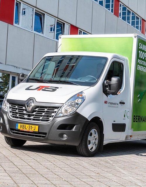 Met last mile logistiek biedt UTS Bernardt flexibele en snelle stadsdistributie aan volgens het SimplyMile concept.